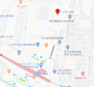 東部出張所の地図