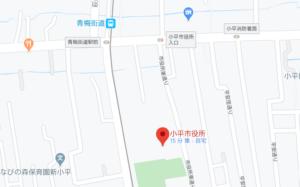 小平市役所の地図